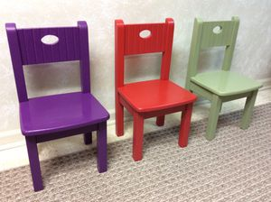 Kids table and 3 chairs, solid wood for Sale in Woodbridge, VA