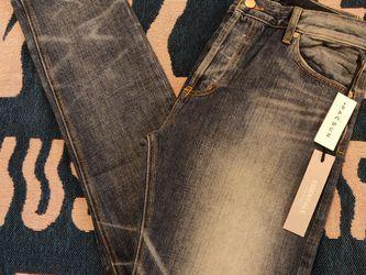 Fear Of God FOG Essentials Dark Indigo Jeans Denim Pant Distressed Men's Size 32 NWT for Sale in Los Angeles,  CA