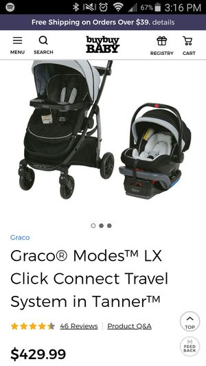 Graco modes LX 3-in-1 travel system in tanner fashion for Sale in Aloma, FL