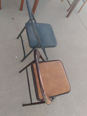 Two metal folding chairs for Sale in Wichita, KS