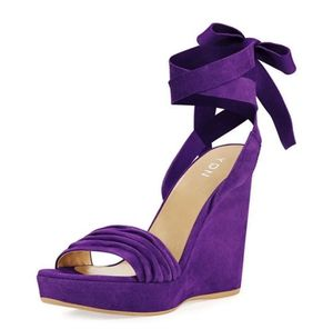 size 7 YDN Women Lace Up Platform High Heels Sandals Open Toe Chic Wedge Shoes for Party for Sale in Las Vegas, NV