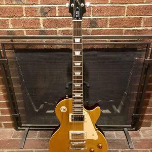 Mint Epiphone Les Paul Standard Gold Top Guitar for Sale in Arlington, VA