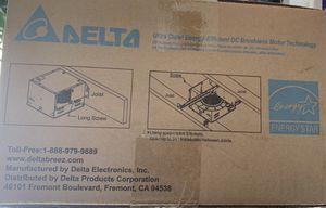 Delta GBR50 - Ceiling/Wall Ventilation Fan for Sale in Castro Valley, CA