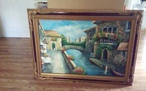 Large oil painting of Italy Singe Marie Charlo 44x33 for Sale in Pawtucket, RI