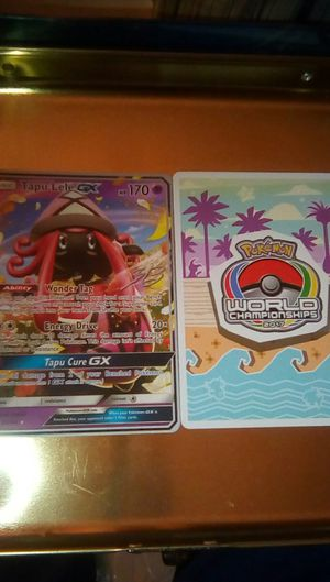 Pokemon collectable, World championship 2017 Tapu Lele GX ×2 for Sale in Fontana, CA
