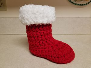 Crochet santa boot for Sale in Virginia Beach, VA