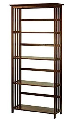 New- Casual Home Mission Style 5-Shelf Bookcase, Walnut for Sale in Phoenix, AZ