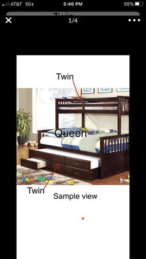 Bunk Bed with Trundle + 3 Drawers for Sale in Fremont, CA