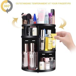 NEW! 360 Spinning Makeup Organizer, Round Storage Rack Makeup Carousel Cosmetics Shelf Tower for Countertop and Bathroom, Black for Sale in Stuart, FL