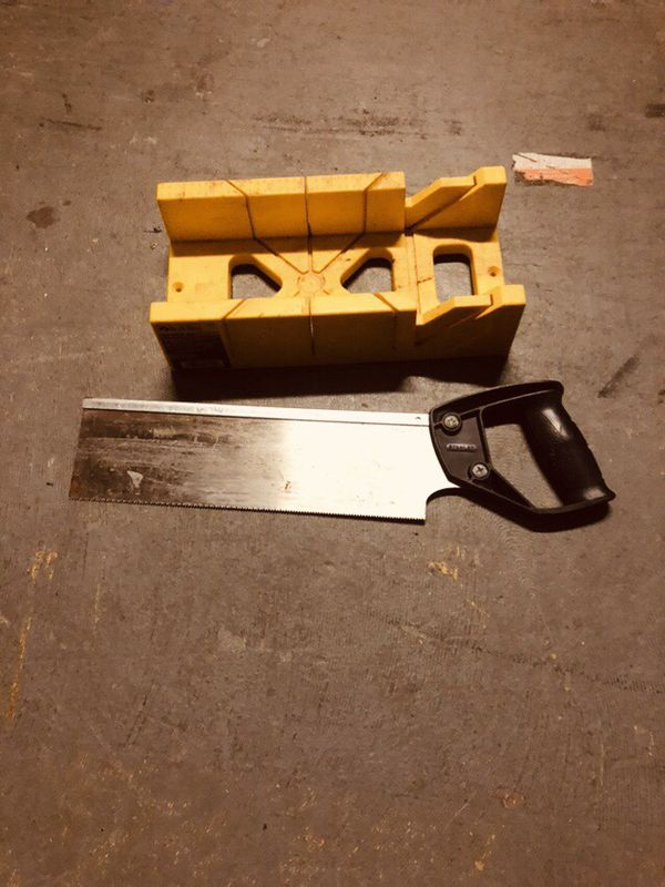 Wood saw and miter box