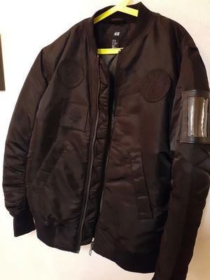 H&M The Weeknd XO Nylon Badges Bomber Jacket Size Xs for Sale in Los Angeles, CA