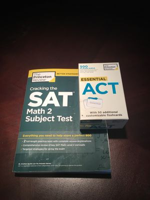 Act flash cards + sat2 math book for Sale in Wayland, MA