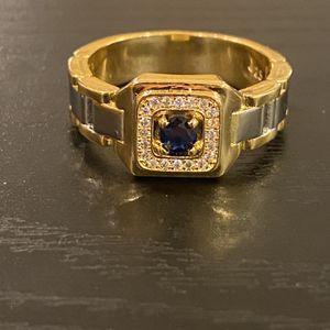 Unisex 18K Gold plated Chain Design Ring -Code BLU90 for Sale in Miami, FL