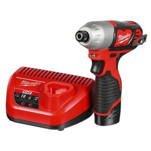 Milwaukee M12 12-Volt Lithium-Ion Cordless 1/4 in. Impact Driver Kit with 1.5Ah Battery, Charger and Bag for Sale in Buffalo Grove, IL
