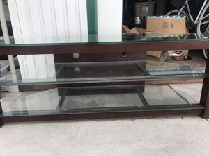 TV console table with glass top for Sale in San Diego, CA