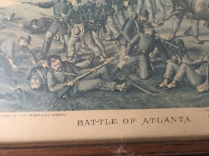 Battle of Atlanta framed painting for Sale in Boynton Beach, FL