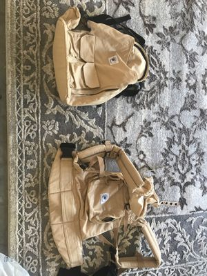 Amazing condition ergo baby carrier and matching khaki ergo baby backpack diaper bag for Sale in Orlando, FL