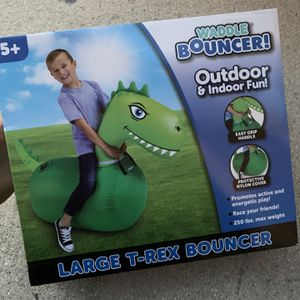 Waddle Bouncer - Large Dinosaur T-Rex Inflateable Bounce Toy - Brand New - Holds Up To 250lbs Of Weight for Sale in Fort Lauderdale, FL