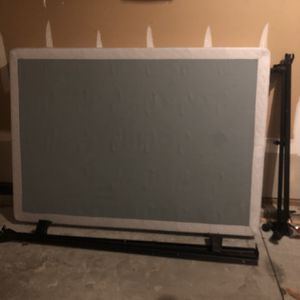 Box spring & Frame Full size for Sale in Raleigh, NC