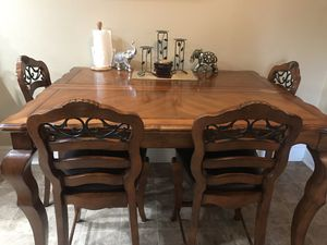 Wooden table with 4 chairs for Sale in Vista, CA