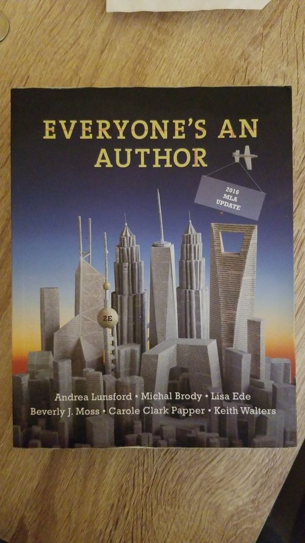 Everyone's an author.