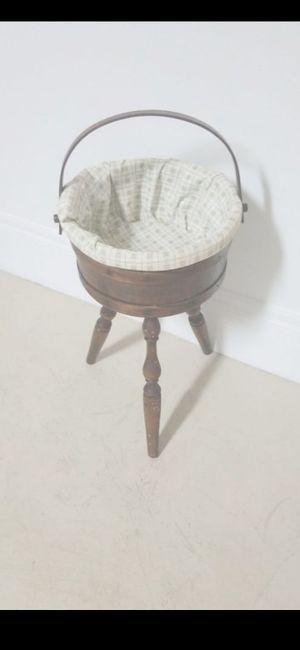 PRICE FIRM! VINTAGE BASKET MADE OF WOOD for Sale in Delray Beach, FL
