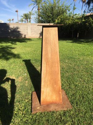Rusted pedestal for Sale in Phoenix, AZ