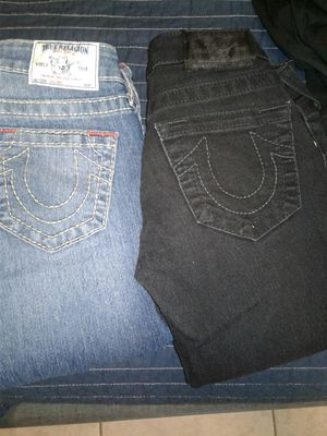 Original true religion jeans for girl size 24 & 25 $50 for both for Sale in Los Angeles, CA