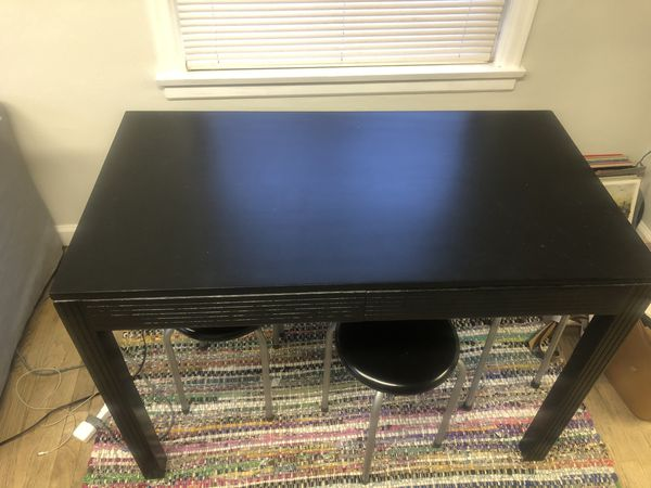 Small table and stools