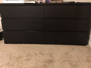 IKEA black-brown 6-drawer dresser for Sale in Spring Valley, CA