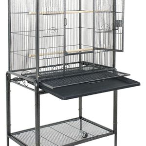 Bird Cage with Stand Wrought Iron Construction 53-Inch Pet Bird Cage Play Top Parrot Cockatiel Cockatoo Parakeet Finches Birdcage for Sale in Monterey Park, CA