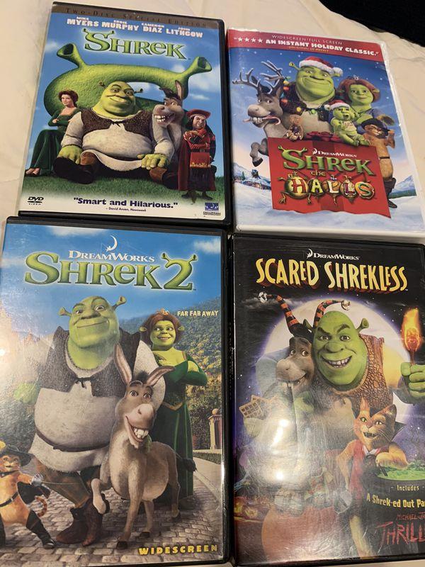 Shrek Dvd Lot of 4