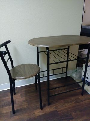 Small Kitchen table with a chair for Sale in Palm Bay, FL