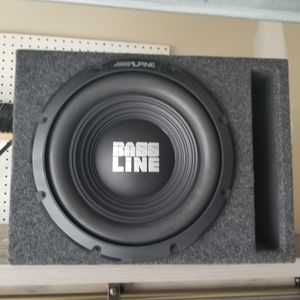 """10"""" Alpine Subwoofer with Box and Amp for Sale in Severn, MD"""