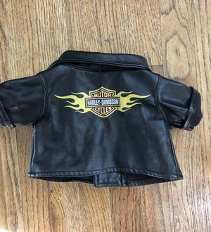 Build a bear Harley Davidson leather motorcycle jacket for Sale in San Diego, CA