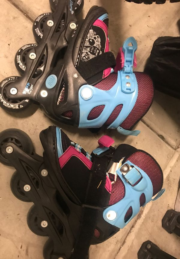 Girls adjustable rollers size 10-13