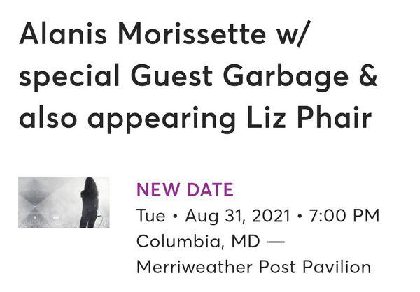 TICKETS 2021! Alanis Morissette 2021 concert tickets