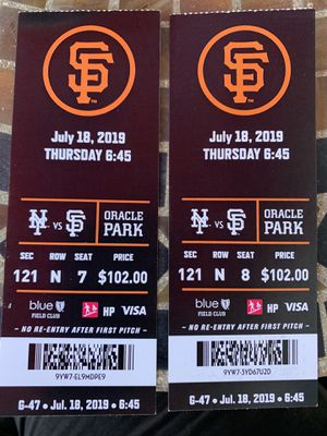 GREAT TICKETS... SF GIANTS vs NY METS for Sale in Modesto, CA