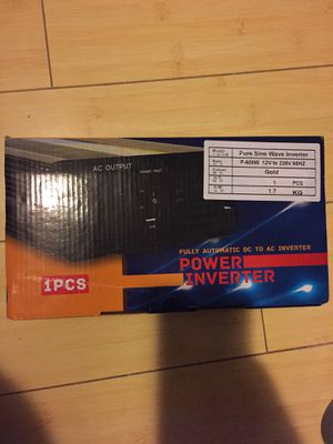 Pure Sine Wave Power InverterAC 1200w for Sale in Gastonia, NC