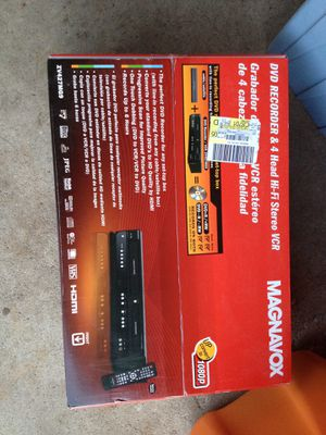Brand new Dvd recorder & 4 head hi if VCR for Sale in Crystal Lake, IL