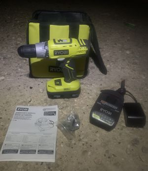 Ryobi ONE - 18 Volt Lithium-Ion + Cordless + Brushless Hammer Drill / Driver Kit. (Drill, battery, charger, and bag) for Sale in Baton Rouge, LA