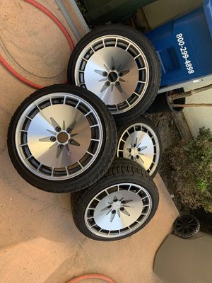 """Klutch wheels and tires 16"""" staggered x8 x9 5x100 for Sale in Garden Grove, CA"""