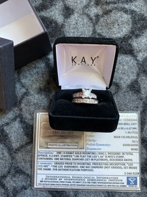 Wedding ring with band for Sale in Bedford, MA
