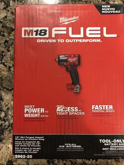 """Milwaukee M18 Fuel 1/2"""" Mid Torque Impact Wrench for Sale in Haverhill,  MA"""