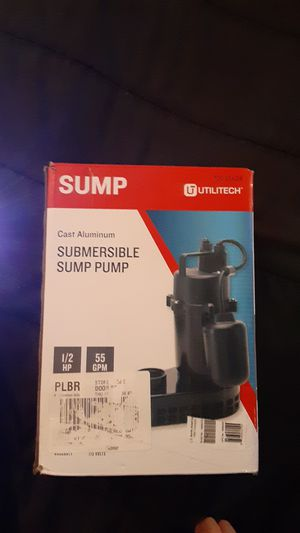 Utilitech 0.33HP Submersible Sump Pump NEW for Sale in Lancaster, KY