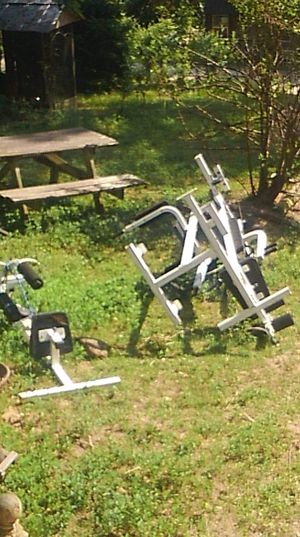 Disassrmbled weight set. Missing a few screws as is for Sale in Fairburn, GA