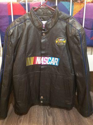 Men's Leather Like Nascar Jacket for Sale in Oakton, VA