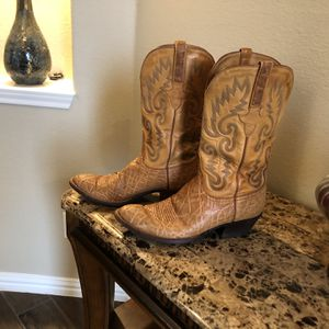 LUCCHESE HANDMADE CLASSIC EXOTIC ..size 9...excellent Conditions for Sale in Forney, TX