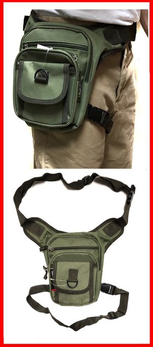 NEW! Waist Pouch Hip Holster Pouch drop leg bag Waist Bag Side Bag hiking camping motorcycle hunting biking Pouch Waist Pack od green for Sale in Carson, CA