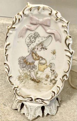 Vintage Porcelain Portable Lamp Aladdin Giftware Children Kids Girl Night Light for Sale in Chapel Hill, NC